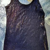 Express Black Tank Top Sequined  Cami New Condition Medium Free Shipping Photo