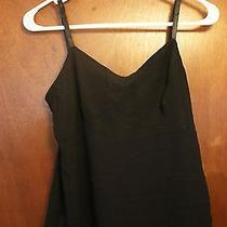 Express Black Tank W/sheer Overlay Size 7-8 Photo