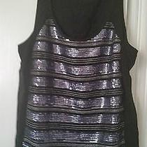 Express Black Tanp With Sequins  Size L Photo