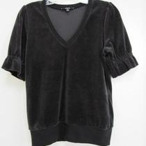 Express Black Velvet Top Size Small Photo