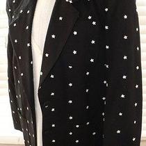 Express Black W Stars Patriotic July 4th Blazer Jacket Womens Clothing Sz S Photo