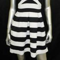 Express Black/white Colorblock Strapless Stretch Bandage Fit & Flare Dress Sz Xs Photo