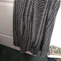 Express Black White Geometric Print Skirt Side Size Medium Pre Owned Photo