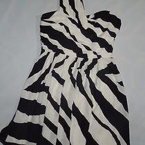 Express Black & White One Shoulder Evening Dress  Size 2 Nwt Photo