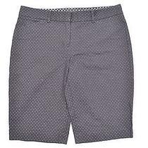 Express Black White Polka Dot 100% Cotton Editor Fit Dress Bermuda Shorts Sz 8 Photo