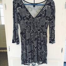 Express Black & White Printed Tunic Size S Photo