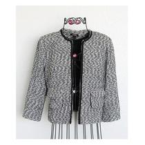 Express Black & White Tweed Boxy Blazer Jacket Size 8  Photo