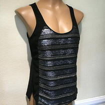 Express Black With Sequins Sleeveless Tank Top  Women's Size Xs  Photo