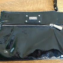 Express Black Wristlet Purse Zipper Closure Great Condition Photo