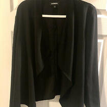Express Blazer Jacket Black Womens Size Xl Preowned Photo