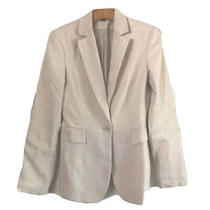 Express Blazer Size 2 Ivory One Button Shoulder Pad Stretch Fit Photo