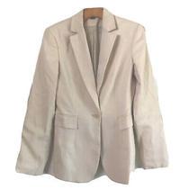 Express Blazer Size 2 Ivory One Button Shoulder Pad Stretch Fit Photo