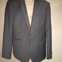 Express Blazer Suit Jacket Gray Photographer Slim Fit Mens 42 Reg Nwd Hole Photo