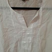 Express Blouse White With Sequins Size Xs Photo