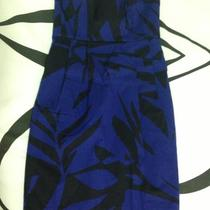 Express Blue/black Strapless Dress Size 0 Photo