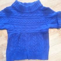Express Blue Cable Knit Sweater Size Small Photo