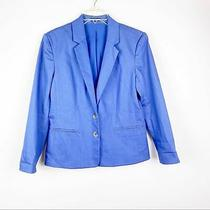 Express Blue Classic Fit 2 Button Lined Blazer Women's Size Small Photo