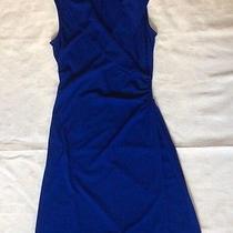 Express Blue Cobalt Royal Blue Wrap Knit Dress Sz 3/4 Small Kate Middleton Style Photo