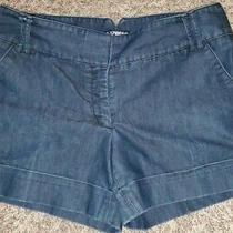 Express Blue Cuffed Shorts 4.5