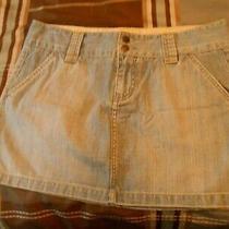 Express Blue Jean Short Skirt Size 12 Photo
