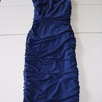 Express Blue Ruffle Dress  Photo