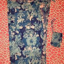 Express Blue Sheer Hawaiian Floral Print Multi-Way Wrap Cover-Up Dress Sarong  Photo