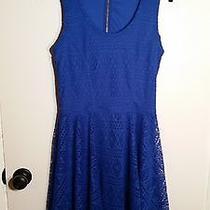 Express Blue Skater Lace Dress Size Medium M Photo