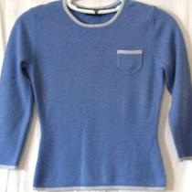 Express Blue Skinny Fit Cashmere Sweater - S Photo