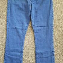 Express Blue Slim Fit Crop Jeans Leggings Ultra Low Rise Ladies Size 10 Photo