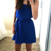Express Blue Strapless Dress Photo