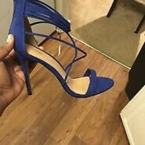 Express Blue Strappy Open Toe High Heel Sandals Size 10 Photo