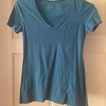 Express Blue v Neck Tee Shirt Size Small Photo