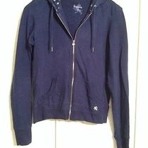 Express Blue Zip Up Hoodie Size S Photo
