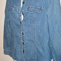 Express Blues Blue Denim Shirt Size Small  Photo