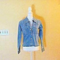 Express Blues Denim Couture Jacket Size Small Photo