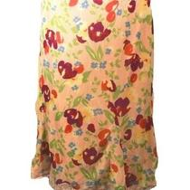 Express Blush Lace Accent Floral Layered Skirt Flat Elastic Waist Size Large L Photo