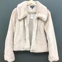 Express Blush Pink Dusty Rose Supersoft Faux Fur Cropped Jacket M Nwt - Sold Out Photo