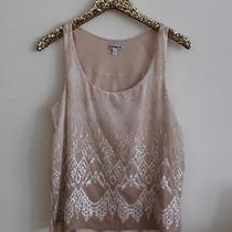 Express Blush Pink Sequin Front Tank Top Photo