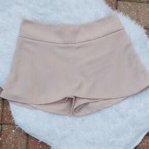 Express Blush Pink Skorts Size 2 Casual Mini Skirt W/ Shorts 100% Polyester Guc Photo