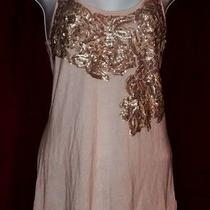Express Blush Tone Tank Top With Sequins Sp Small Petite Pink Trendy Photo