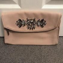 Express Brand Clutch Handbag - Pink With Jeweled Detail Photo