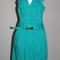 Express Brand Turquoise Ruffled Dress Size 2 Perfect for Work Photo