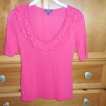 Express Brand- Woman's Top Size Xs Hot Pink Short Sleeve Photo