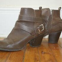Express Brown Ankle Booties Size 8.5 Photo