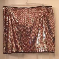 Express Brown Gold Sequin Skirt 11/12 Photo