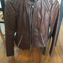 Express Brown Leather Jacket Photo