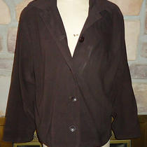 Express Brown Light Jacket Sz 13/14 Euc Photo