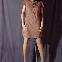 Express Brown Suede Mini Dress New With Tags Hippie Chic Boho Festival Size 8 Photo