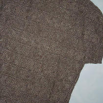 Express Brown Sweater  Small Cable Knit Crew Neck  Photo