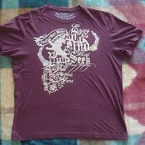 Express Burgundy Graphic Tee T-Shirt Large Photo